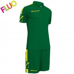 Футбольная форма Givova Kit Play зеленая KITC56.1319