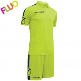 Футбольная форма Givova Kit Play салатовая флуоресцентная KITC56.1904