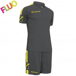 Футбольная форма Givova Kit Play серая KITC56.2319