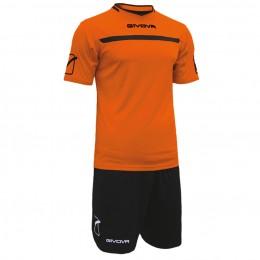 Футбольная форма Givova Kit One оранжево-черная KITC58.0110