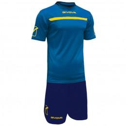 Футбольная форма Givova Kit One сине-голубая KITC58.0207