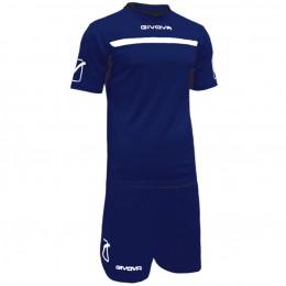 Футбольная форма Givova Kit One синяя KITC58.0403