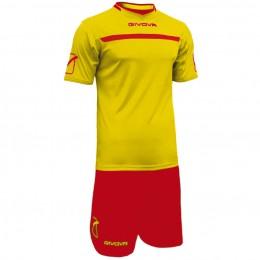 Футбольная форма Givova Kit One красно-желтая KITC58.0712