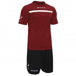 Футбольная форма Givova Kit One бордово-черная KITC58.0810
