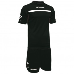 Футбольная форма Givova Kit One черная KITC58.1003