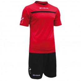 Футбольная форма Givova Kit One красно-черная KITC58.1210