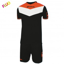 Футбольная форма Givova Kit Campo Fluo черная KITC63.1028