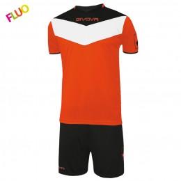 Футбольная форма Givova Kit Campo Fluo оранжевая флуоресцентная KITC63.2810