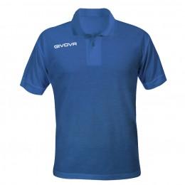 Футболка поло Givova Polo Summer синяя MA005.0004