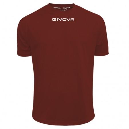 Футболка Shirt Givova One бордовая MAC01.0008