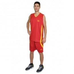Баскетбольная форма Europaw красно-желтая bb-euro-01202