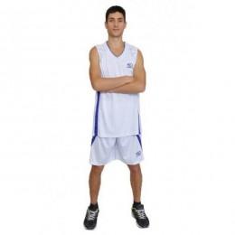 Баскетбольная форма Europaw бело-фиолетовая bb-euro-01209