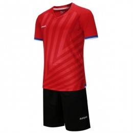 Футбольная форма Europaw 016 красно-черная fb-euro-01749