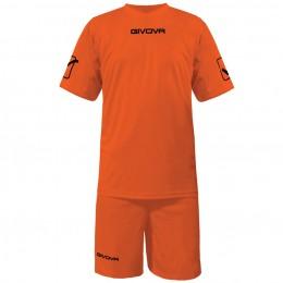 Футбольная форма Givova Kit Givova оранжевая KITC48.0001