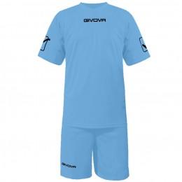 Футбольная форма Givova Kit Givova голубая KITC48.0005