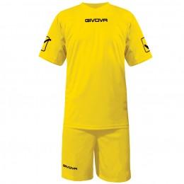 Футбольная форма Givova Kit Givova желтая KITC48.0007