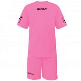 Футбольная форма Givova Kit Givova розовая KITC48.0011