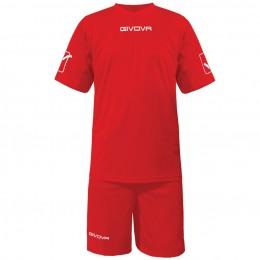 Футбольная форма Givova Kit Givova красная KITC48.0012