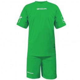 Футбольная форма Givova Kit Givova зеленая KITC48.0013