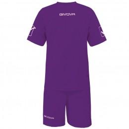 Футбольная форма Givova Kit Givova фиолетовая KITC48.0014