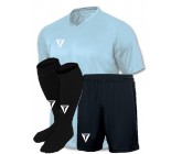 Детская футбольная форма Titar голубая (футболка+шорты+гетры)