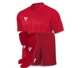 Детская футбольная форма Titar красная(футболка+шорты+гетры)