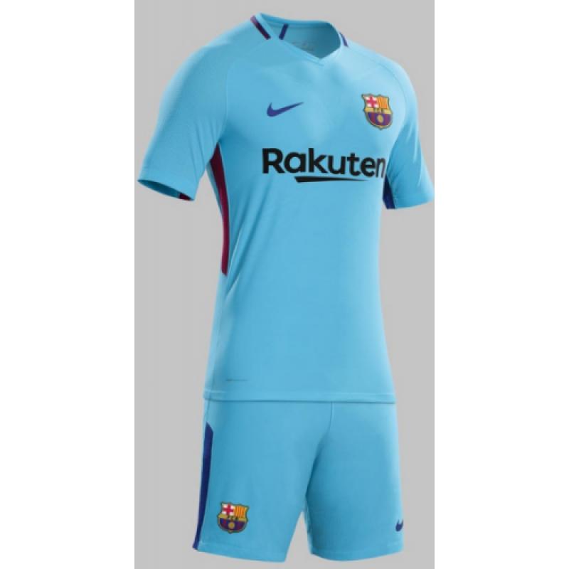 Detskaya Futbolnaya Forma Nike Fc Barcelona Away Kit Fk Barselona Biryuzovaya