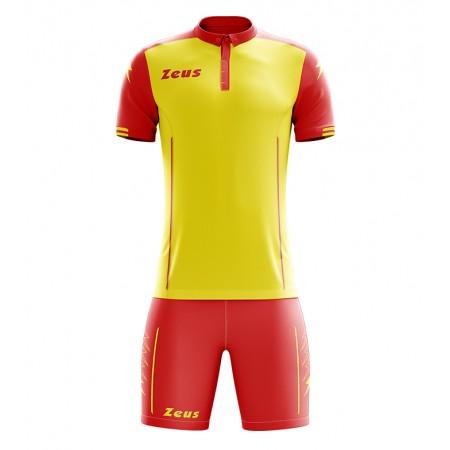 Футбольная форма Zeus KIT AQUARIUS футболка +шорты GIALLO/ROSSO
