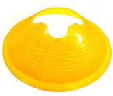 Футбольная фишка дисковая с укреплением жесткости желтая EUROPAW FB-model:853zh