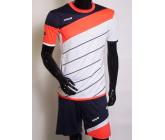 Футбольная форма FB-model:008 бело-коралловая EUROPAW
