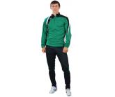 Костюм тренировочный с зауженными штанами зелено - черный FB-119519Vz EUROPAW