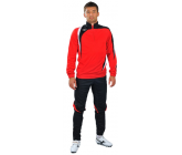 Костюм тренировочный с зауженными штанами красно - черный FB-119519Vk EUROPAW