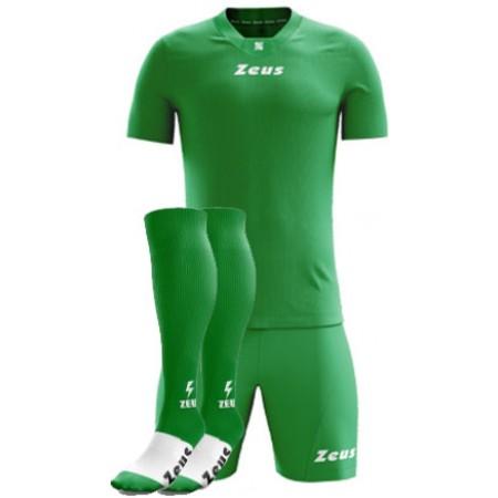 Футбольная форма Zeus KIT PROMO футболка зеленый+шорты и гетры CALZA ENERGY Z00529