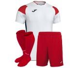 Футбольная форма Joma CREW III 101269.206(футболка+шорты+гетры) бело-красная