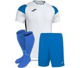 Футбольная форма Joma CREW III 101269.207(футболка+шорты+гетры) бело-голубая