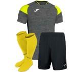 Футбольная форма Joma CREW III 101269.159(футболка+шорты+гетры) серая