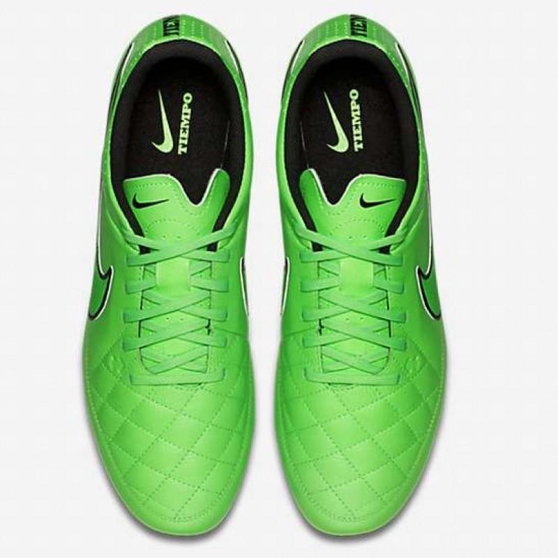 Бутсы Nike Tiempo Genio Leather FG зеленые