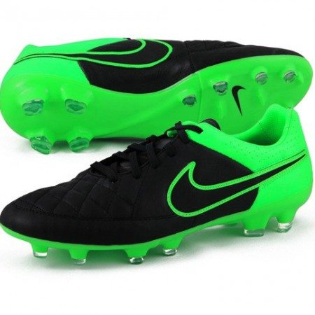 Бутсы Nike Tiempo Legacy FG черные/зеленыые