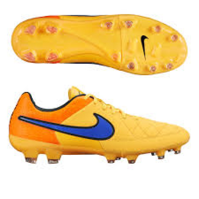 Бутсы Nike Tiempo Legacy FG оранжевые