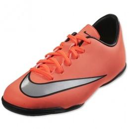 Детские футзалки Nike JR MERCURIAL VICTORY V IC красные