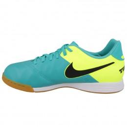 Детские футзалки Nike JR Tiempo Legend VI IC голубые