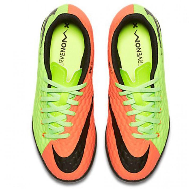Детские сороконожки Nike JR HypervenomX Phelon III TF красно-зеленые
