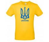 Футболка желтая B&C с гербом Украина