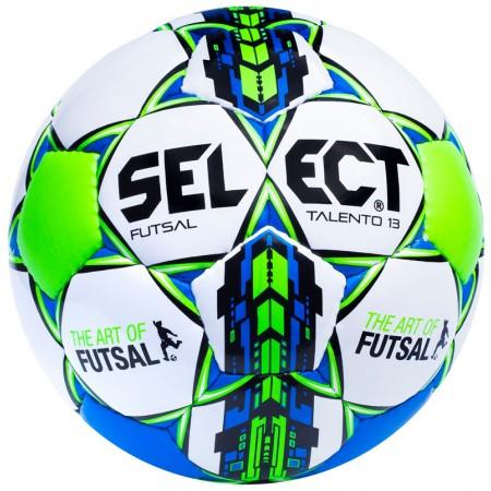 Детский футзальный мяч Select Futsal Talento 13 бело-салатовый