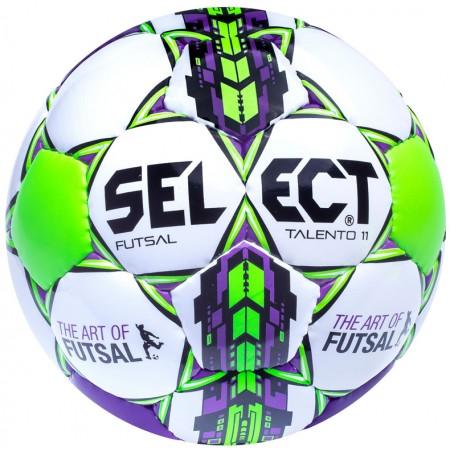 Детский футзальный мяч Select Futsal Talento 11 бело-салатовый