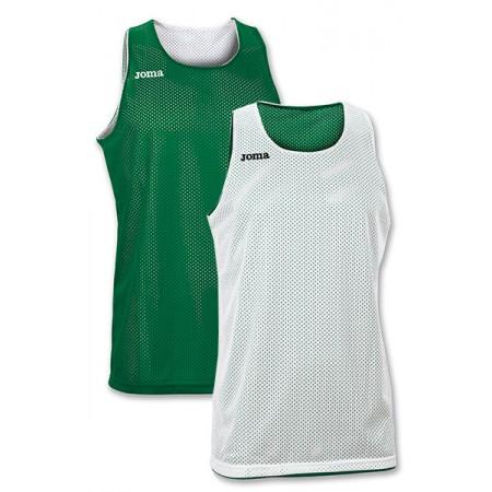 Двухсторонняя майка баскетбольная Joma ARO 100050.450 бело-зеленая