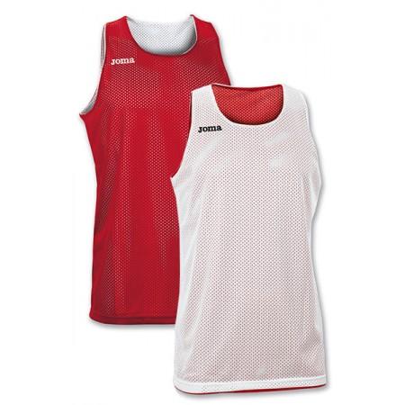Двухсторонняя майка баскетбольная Joma ARO 100050.600 красно-белая