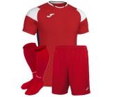 Футбольная форма Joma CREW III 101269.602(футболка+шорты+гетры) красная
