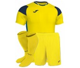 Футбольная форма Joma CREW III 101269.907(футболка+шорты+гетры) желтая