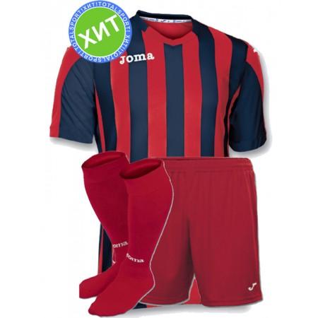 Футбольная форма Joma Copa(футболка+шорты+гетры) 100001.603 красно-черная